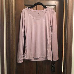 Purple Nike long sleeve t-shirt